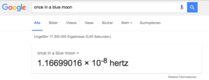 Google Easter Egg Once in a blue moon