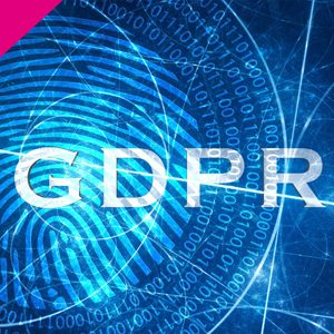 The image shows the letters GDPR